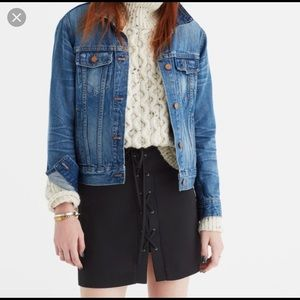 Madewell black lace up skirt 2